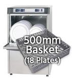 500mm Basket Dishwashers (18 plates)