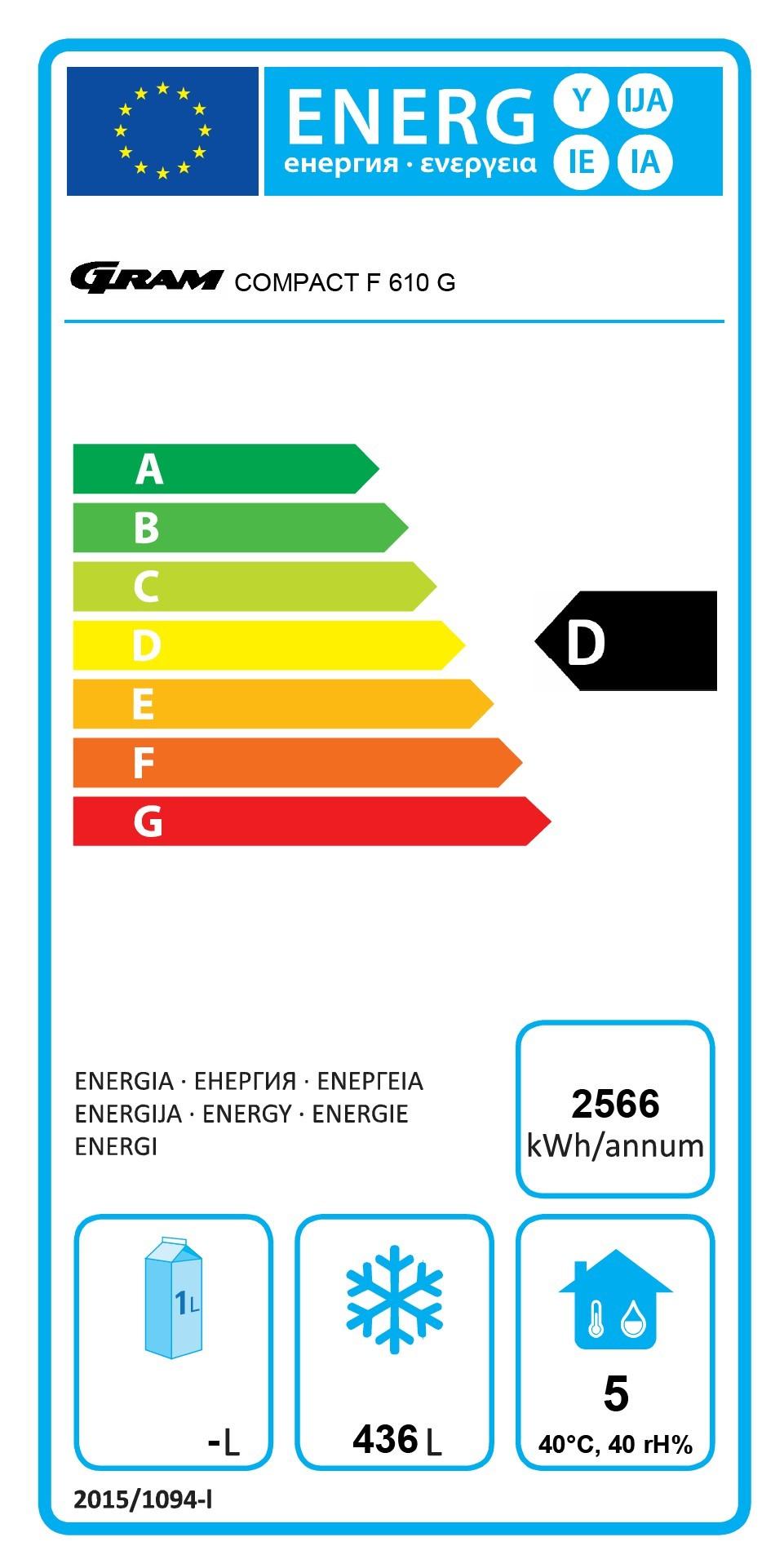 COMPACT F 610 LG C 4N 583 Ltr Single Door Upright Freezer Energy Rating