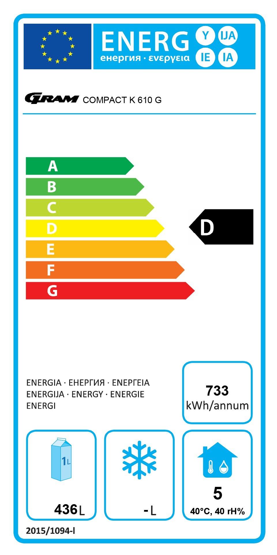 COMPACT KG 610 RG C 4N 583 Ltr Upright Glass Door Display Fridge Energy Rating