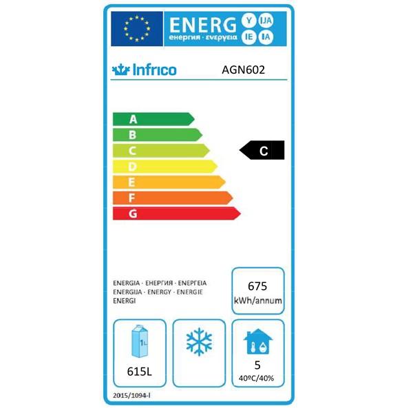AGN602 745 Ltr Double Door Upright Fridge Energy Rating