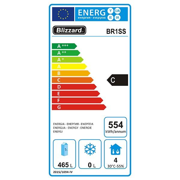 BR1SS 650 Ltr Single Door Upright Gastronorm Fridge Energy Rating