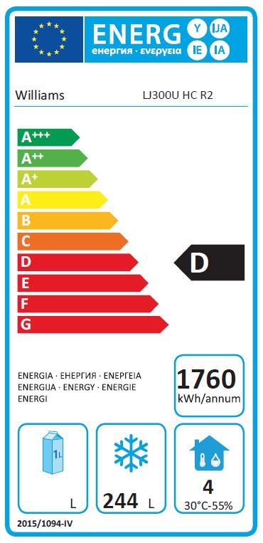 Jade LJ300U-SA 336 Ltr Single Door Upright Freezer Energy Rating