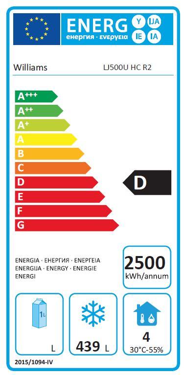 Jade LJ500U-SS 523 Ltr Single Door Upright Gastro Freezer - FD355 Energy Rating