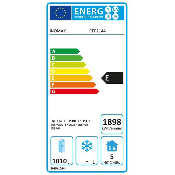 CEP2144 1432 Ltr Double Door 2/1 Gastro Fridge Energy Rating