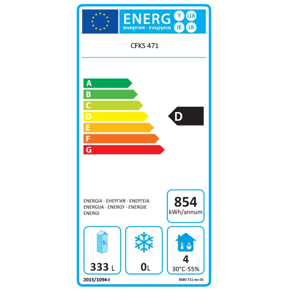 CFKS471-WH 370 Ltr Single Door Upright Fridge Energy Rating