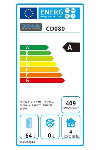 CD080 150 Ltr Undercounter Fridge Energy Rating