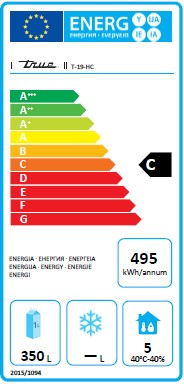 T-19-HC 538 Ltr Hydrocarbon Single Door Upright Fridge Energy Rating