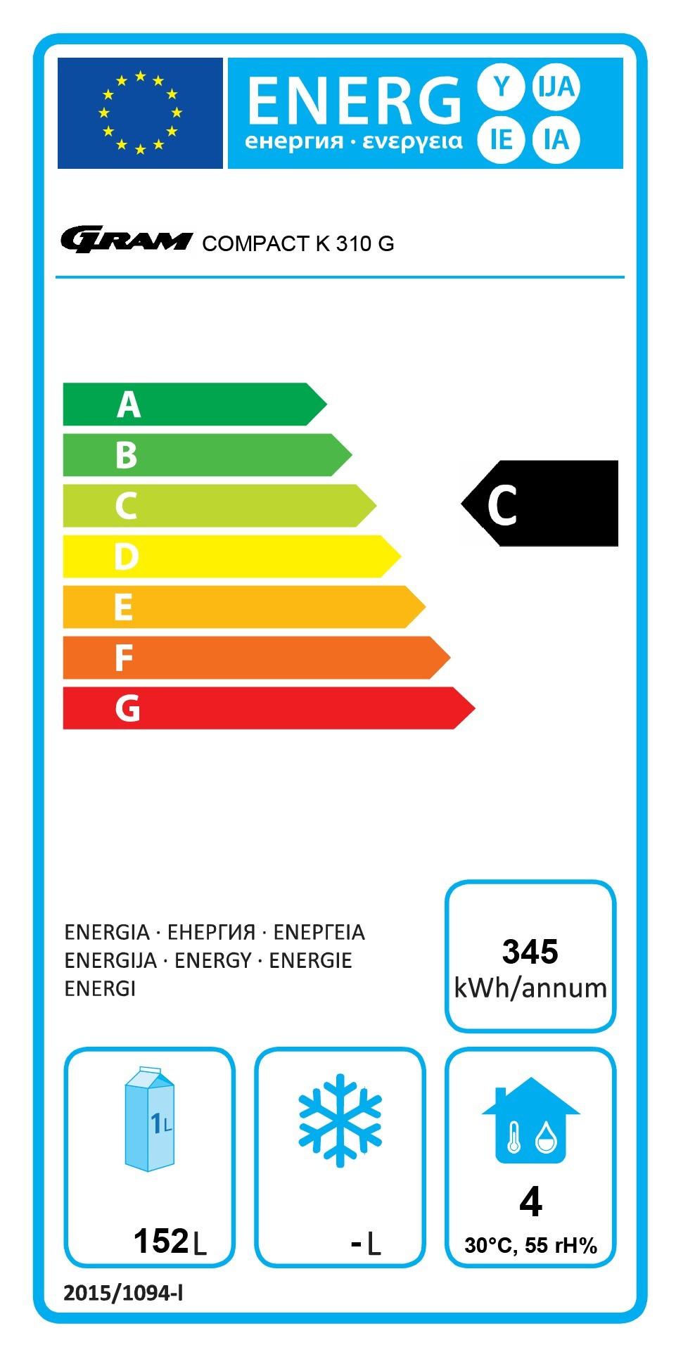 COMPACT KG 310 RG C 4W 218 Ltr Glass Door Display Fridge Energy Rating
