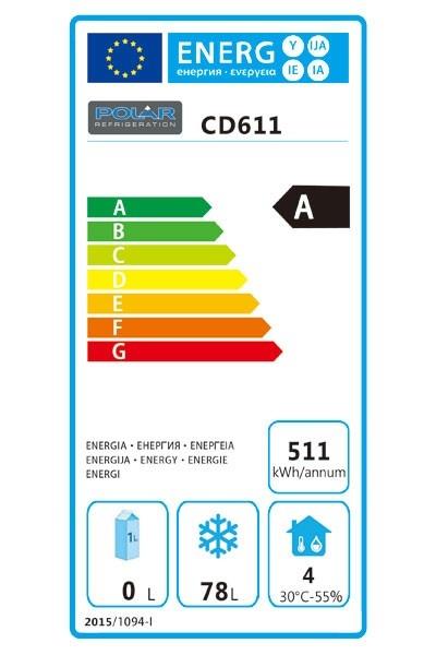 CD611 140 Ltr Undercounter Freezer Energy Rating