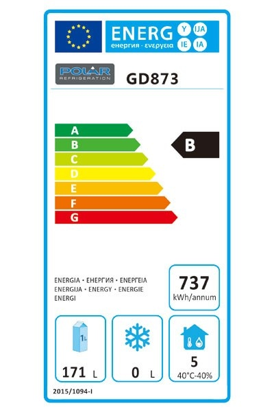 GD873 Single Door, 2 Drawer Refrigerated Prep Counter Energy Rating