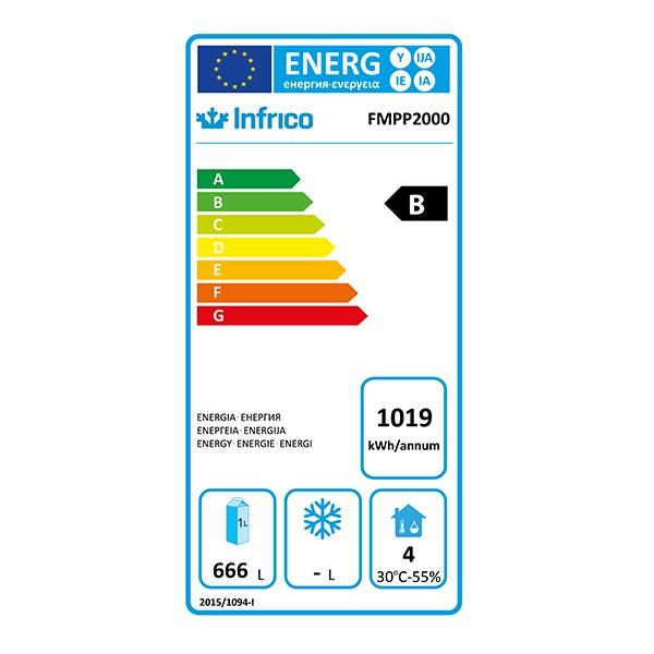FMPP2000 510 Ltr 3 Door Refrigerated Prep Counter Energy Rating