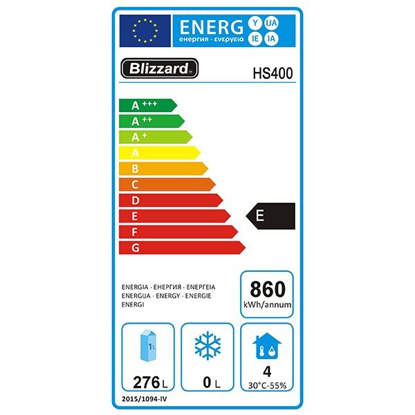 HS400 320 Ltr Single Door Upright Fridge Energy Rating