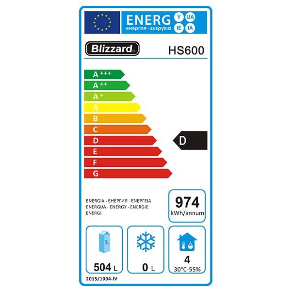 HS600 600 Ltr Single Door Upright Fridge Energy Rating