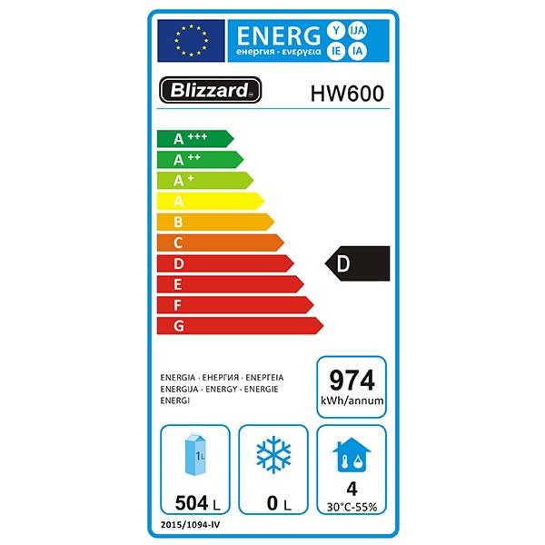 HW600 600 Ltr Single Door Upright Fridge Energy Rating