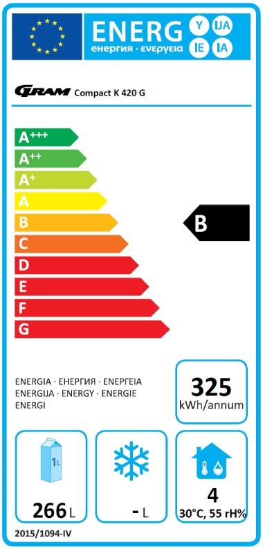 COMPACT K 420 LG L1 5W 359 Ltr Single Door Upright Fridge Energy Rating