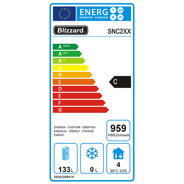 SNC2 214 Ltr Refrigerated Snack Counter Energy Rating