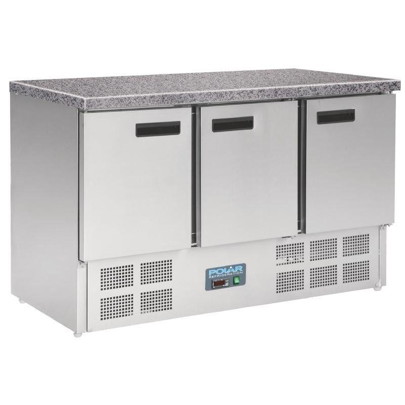 Polar Cl109 Three Door Refrigerated Prep Counters Cas