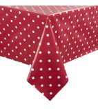 PVC Polka Dot Tablecloth Red 54 x 90in