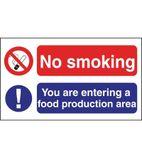 L906 No Smoking Food Production Sign