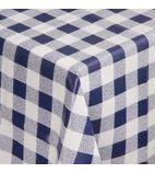 E789 Blue Check Tablecloth