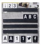 Letter Shelf Black 1000mm