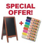 Securit Large Pavement Board And 8 Zig Posterman Pens - S262