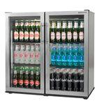 RKC00003-SS 233 Ltr Double Door Hinged Bottle Cooler
