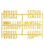 Peg Board 20mm Letters 540 Characters Yellow