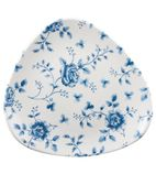 Churchill Vintage Prints Blue Rose Chintz Pattern Triangle Plate 229mm - CP544