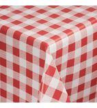 E795 Red Check Tablecloth