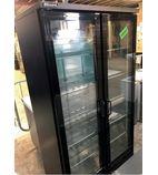 BAR20 417 Ltr Upright Double Hinged Door Back Bar Bottle Cooler - Graded