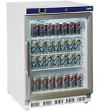 HC201G 200 Ltr Undercounter Glass Door Display Fridge