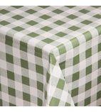 E654 Green Check Tablecloth