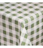 E663 Green Check Tablecloth