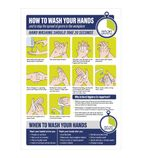 How To Wash Your Hands Sign A4 Self-Adhesive