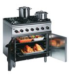 Silverlink 600 SLR9/N 6 Burner Natural Gas Oven Range (Legs At Rear)