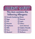 Allergen Food Labels - GJ058