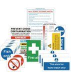 L968 Senior Hygiene Catering Sign Pack