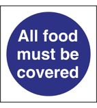 L953 All Food Must Be Covered Sign