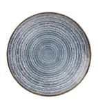 Churchill Studio Prints Homespun Coupe Plates Slate Blue 217mm