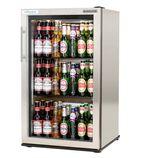 EcoChill RUC00005-SS 92 Ltr Stainless Steel Single Door Bottle Cooler