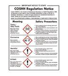 W396 COSSH Regulations Sign