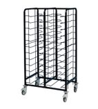 Powder Coated Enamel Clearing Trolley 24 Shelves - DP291