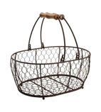 T&G Provence Wire Oval Basket w/ Handles Brown - CL488