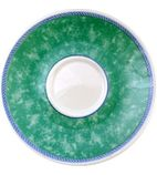 Churchill New Horizons Marble Border Cappuccino Saucers Green 170mm - W025