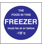 L839 Food In This Freezer Sign