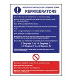 W196 Refrigerator Guidelines Sign