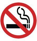 Y937 No Smoking Symbol Window Sign