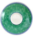 Churchill New Horizons Marble Border Espresso Saucers Green 115mm - W021
