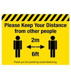 Please Keep Your Distance Social Distancing Floor Graphic FN358